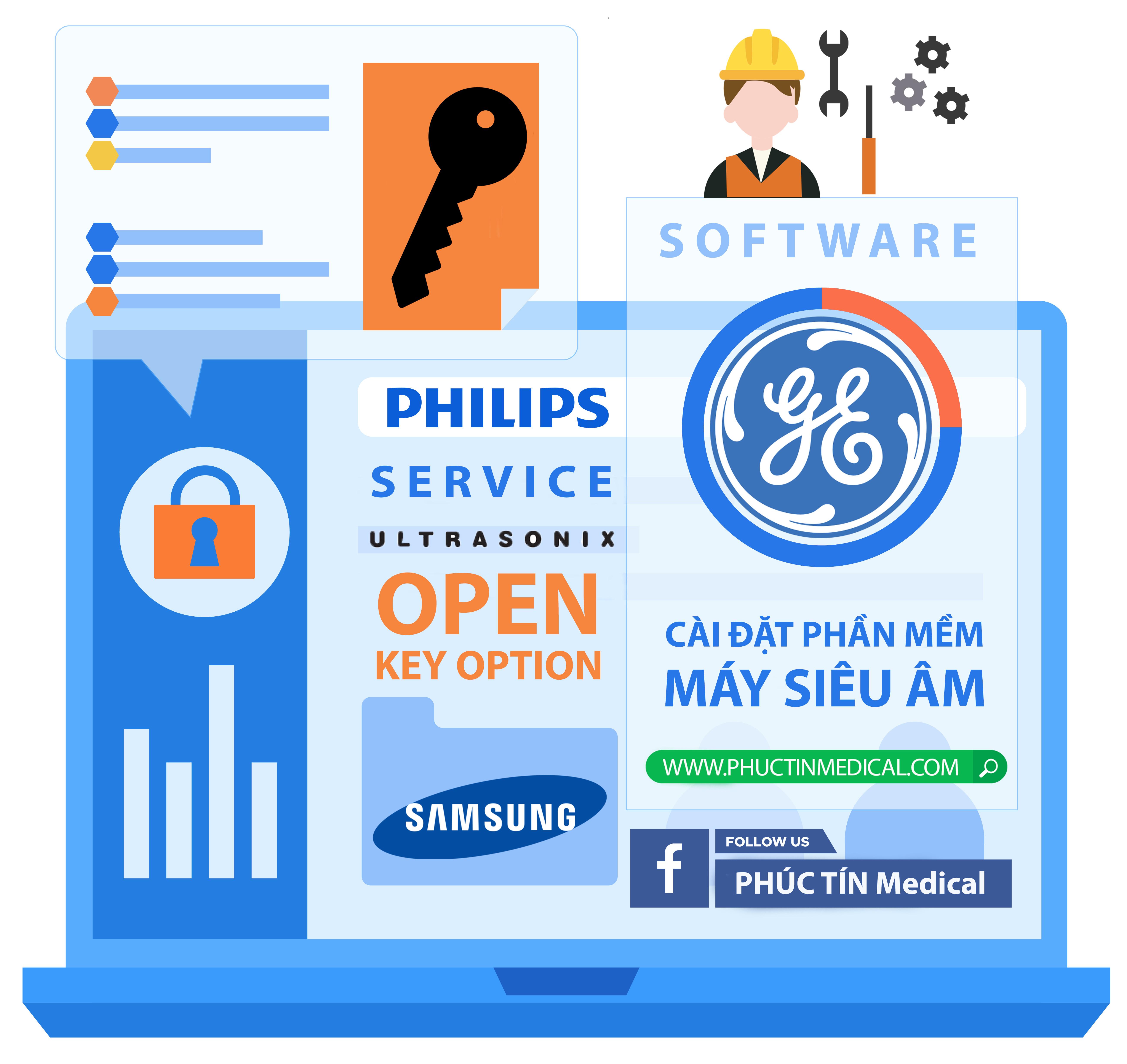 Cài Đặt Phần Mềm, Mở Option Máy Siêu Âm GE Và Samsung